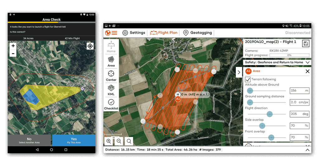 wingtra and quantix flight planning software