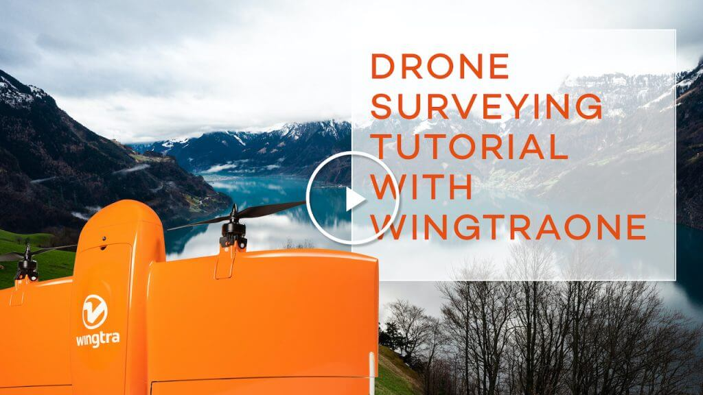 WingtraOne tutorial video play button screen