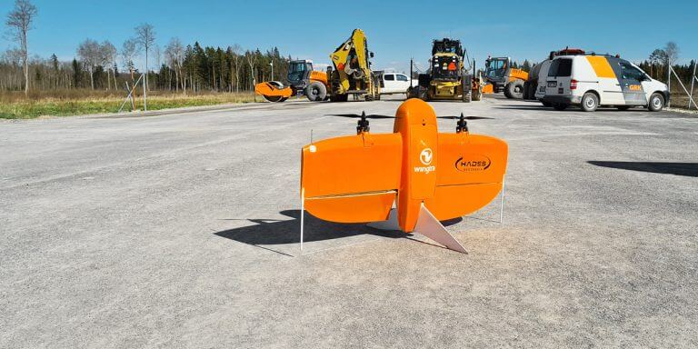 WingtraOne on a road construction project