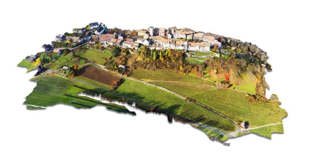 Swiss village 3D drone based on QX1 data