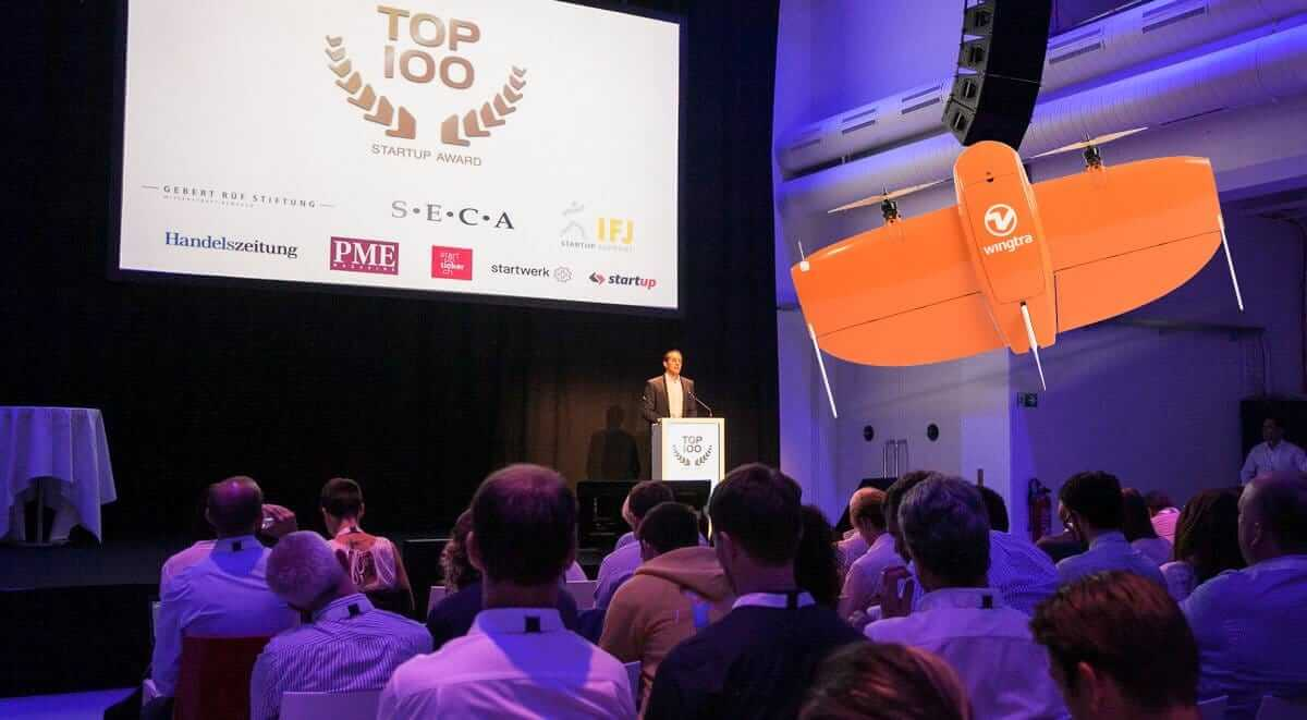 Wingtra at TOP100 startups