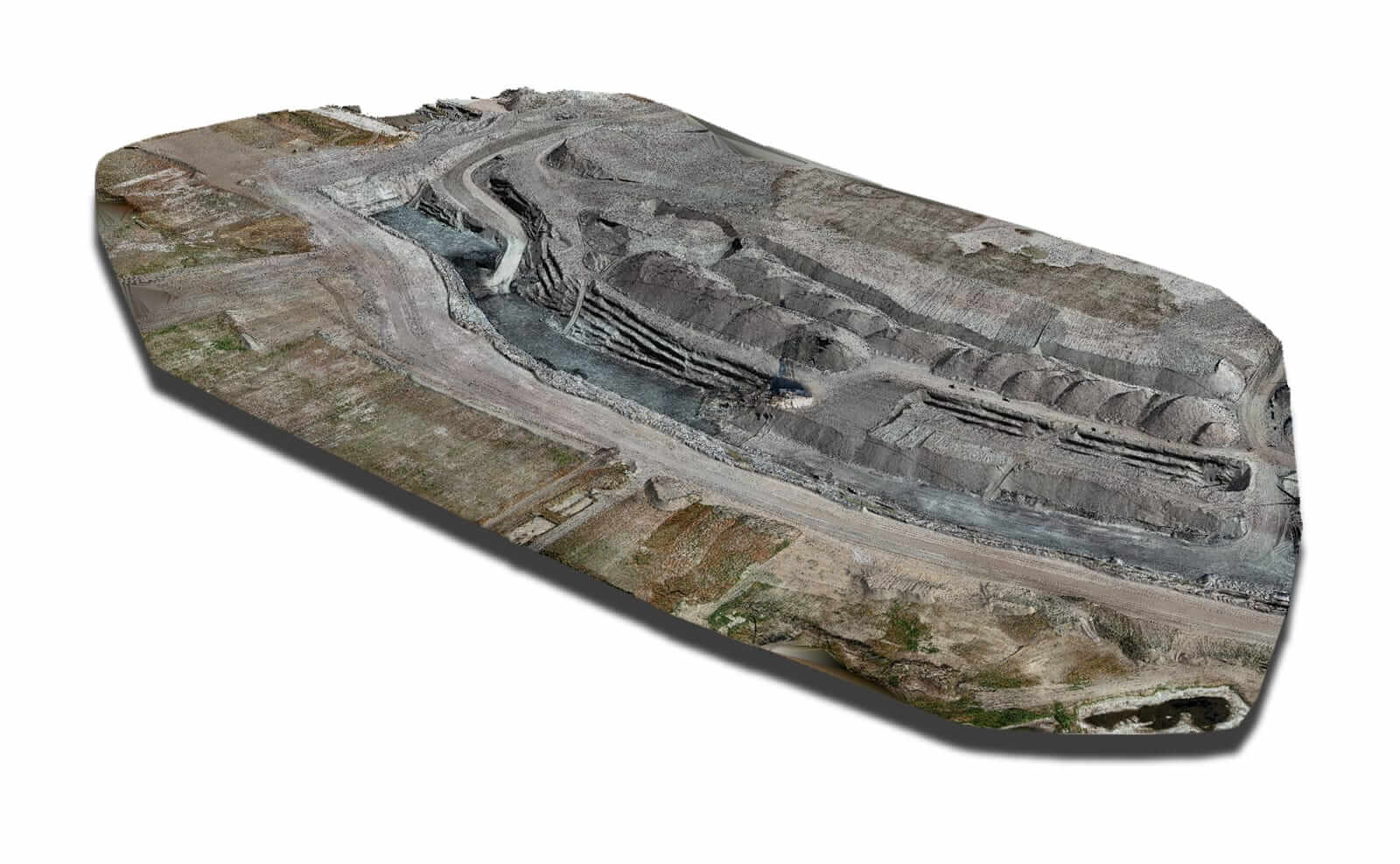 Estevan mine pit output from WingtraOne data