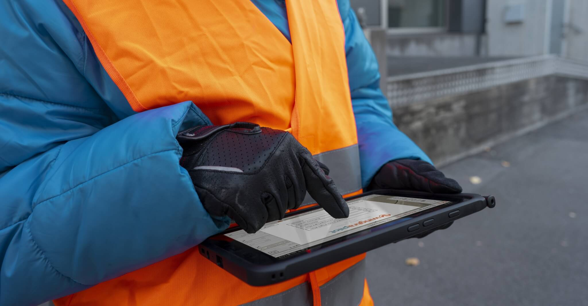Drone pilot software on tablet