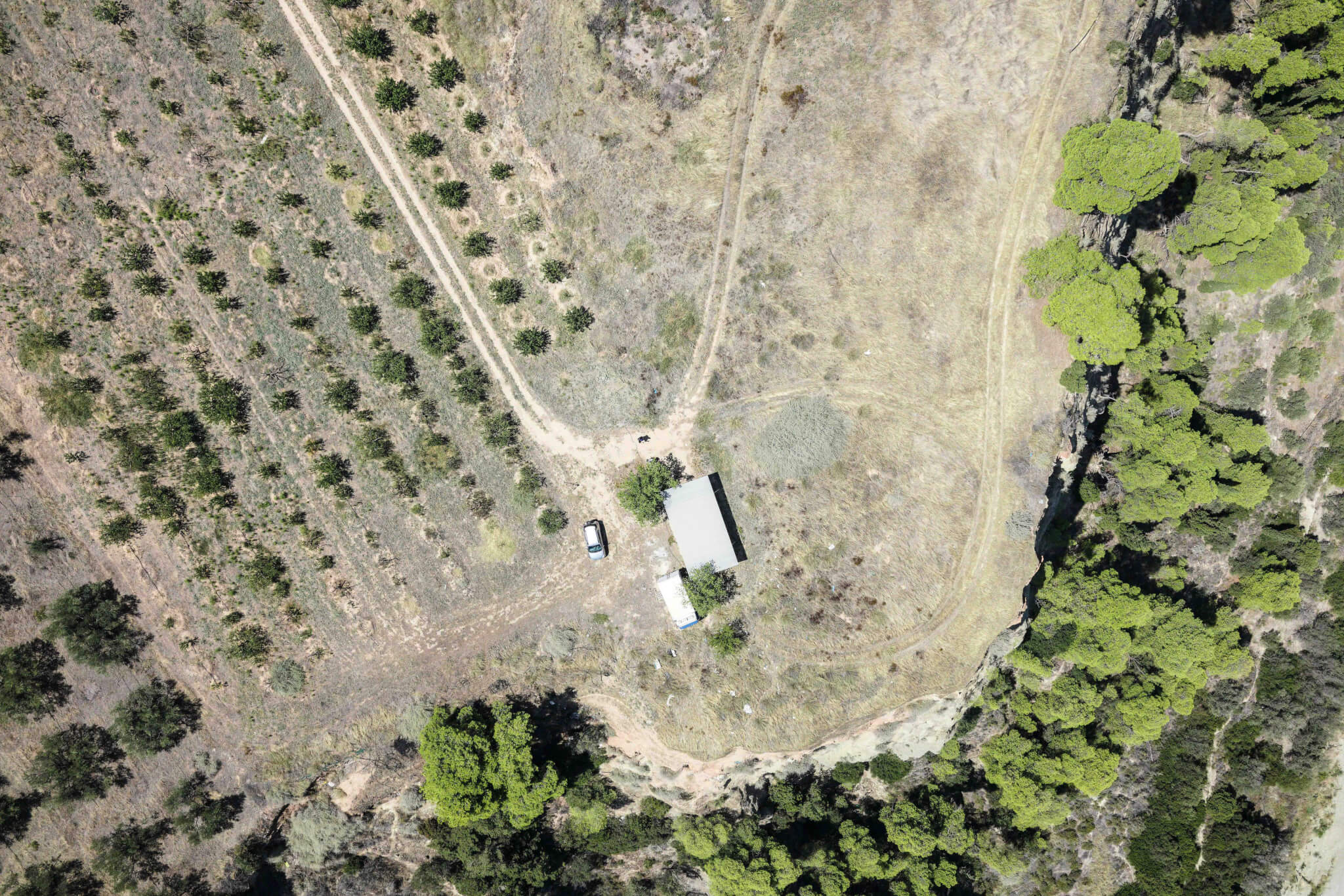 Aerial map of Olympia, Greece
