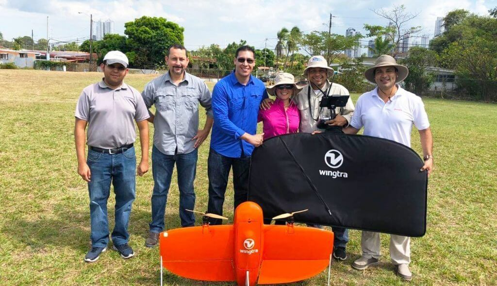 Continex team with Wingtra in Panama
