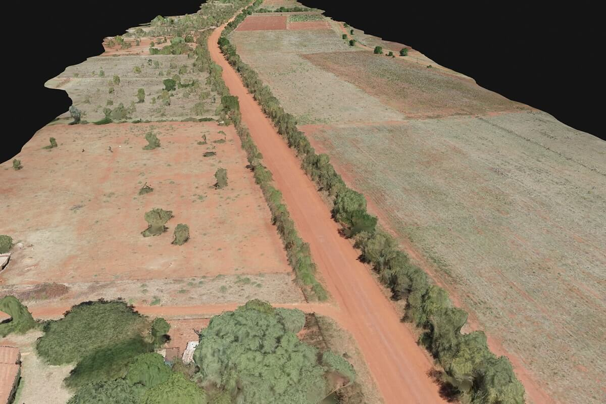 Survey of an African road before construction planning.