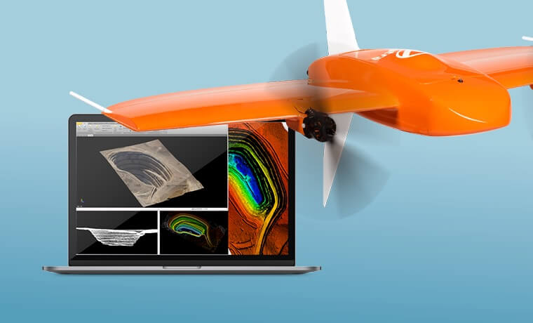 delair software and the WingtraOne drone