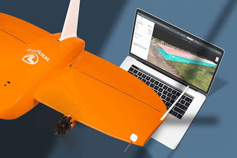 Data capture with WingtraOne drone and processing in DroneDeploy