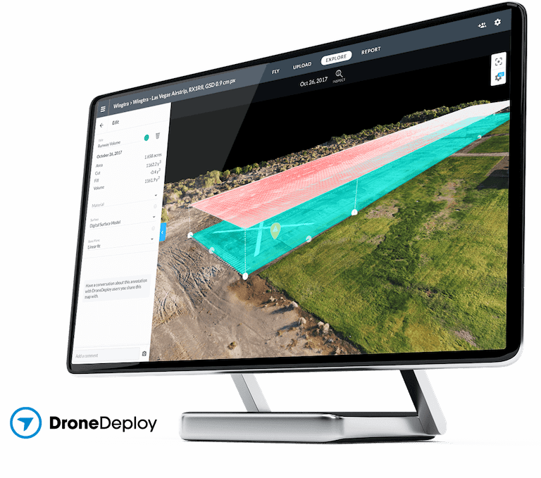 DroneDeploy used for volume calculation
