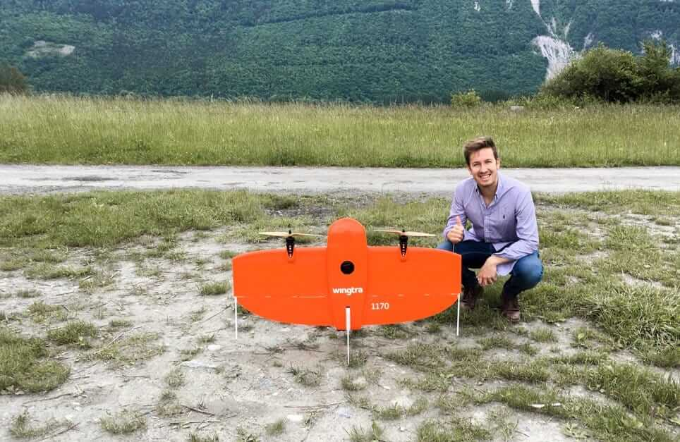 Construction Director of EuroTube with WingtraOne drone