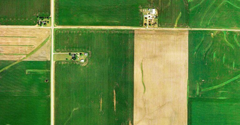 Aerial map of a farm