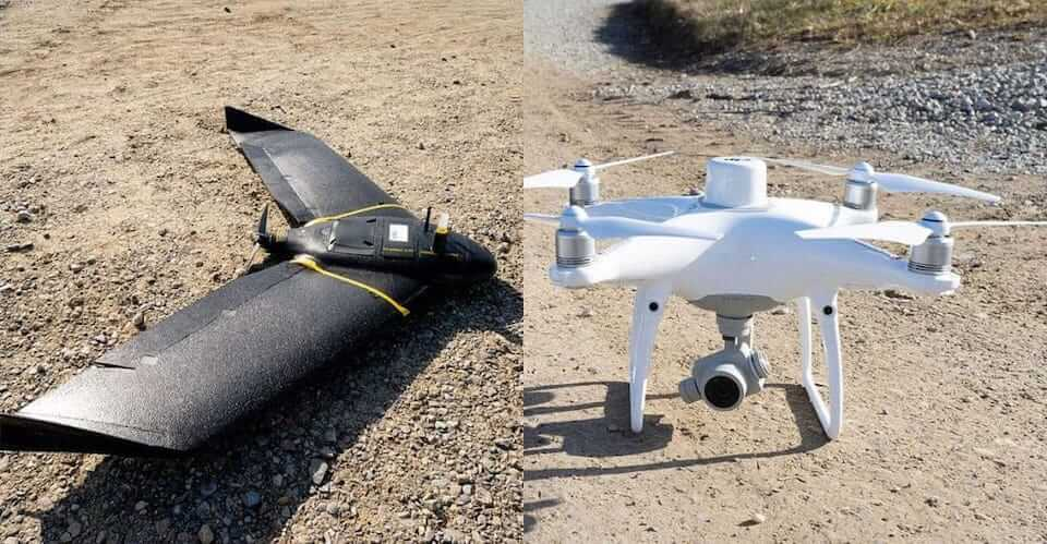 Fixed-wing vs quadcopter for mining survey