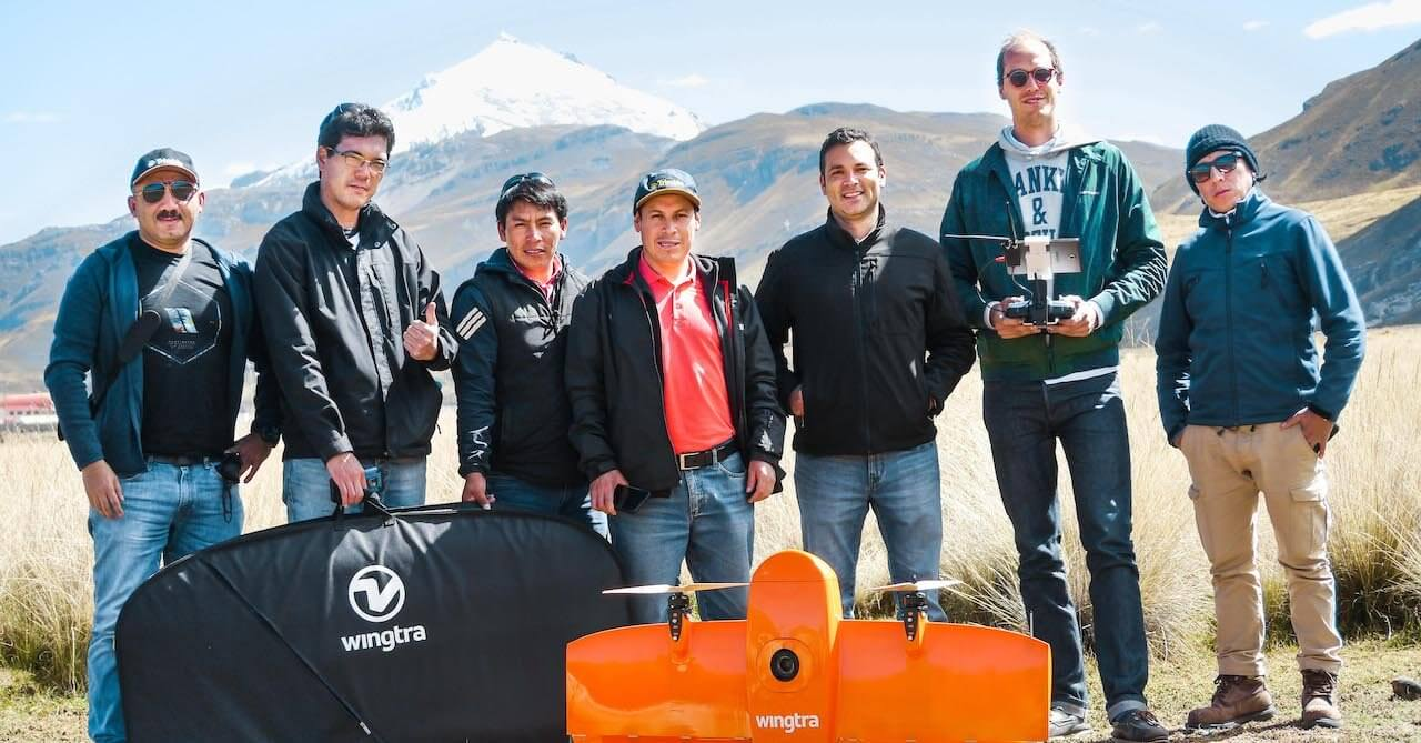 Geo systems team in Peru with Wingtra