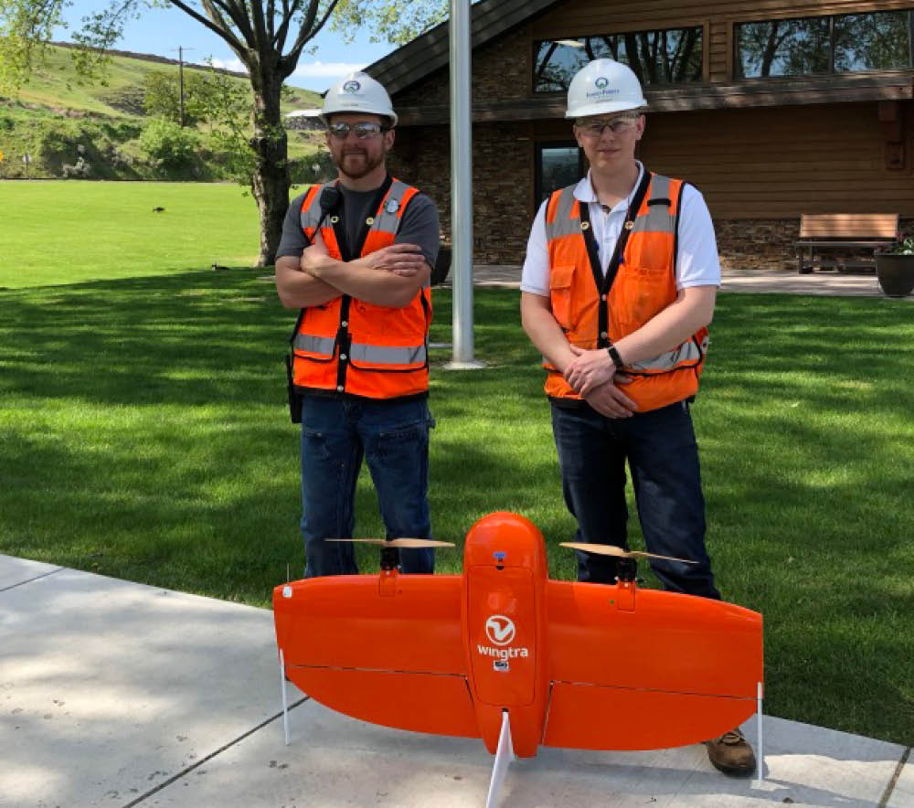 Idaho Forest Group team with WingtraOne drone