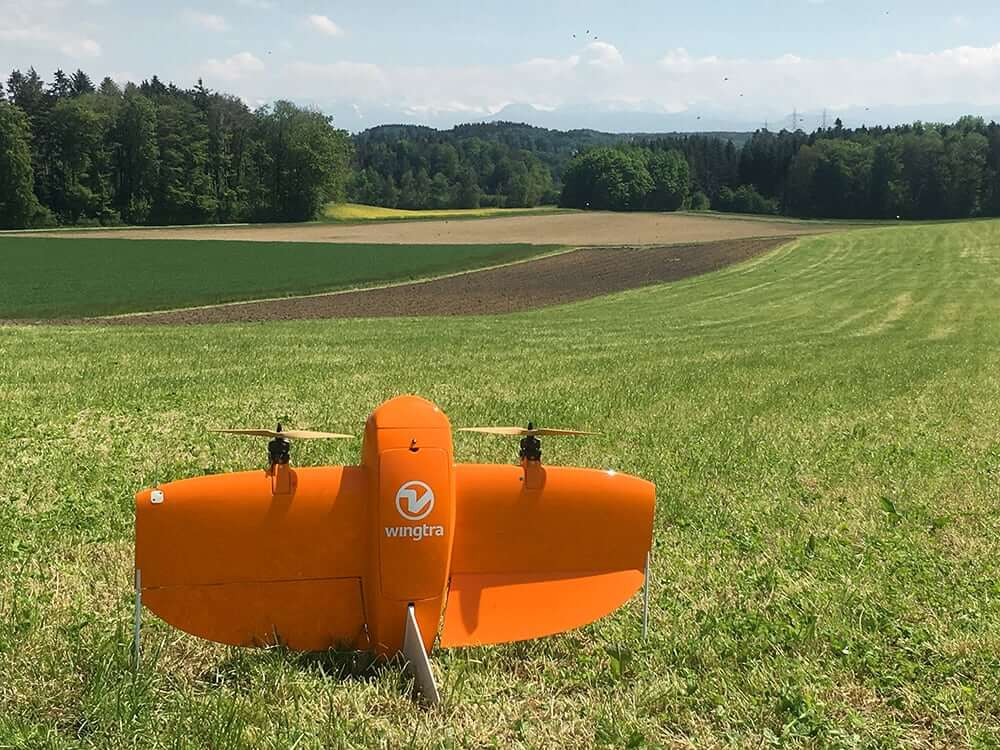 Mapping Drone WingtraOne on a field