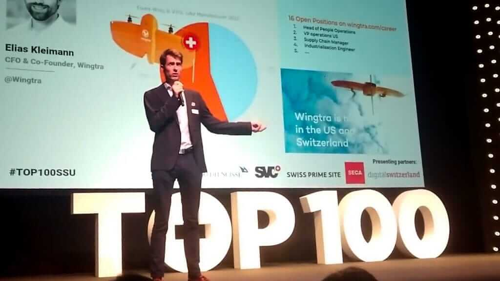 Maximilian Boosfeld at TOP100 startups awards