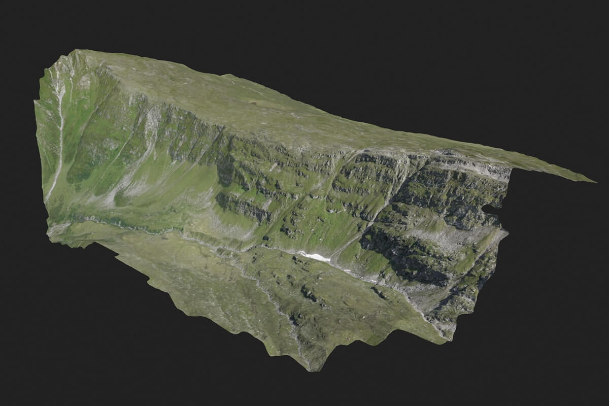Survey of a remote mountain area for pre-construction design of a wind turbines