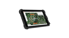 tablet with drone flight planning software