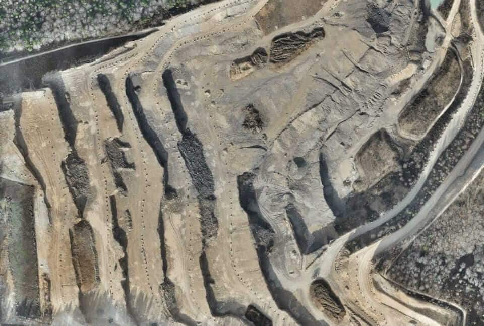 Orthomosaic of a quarry site