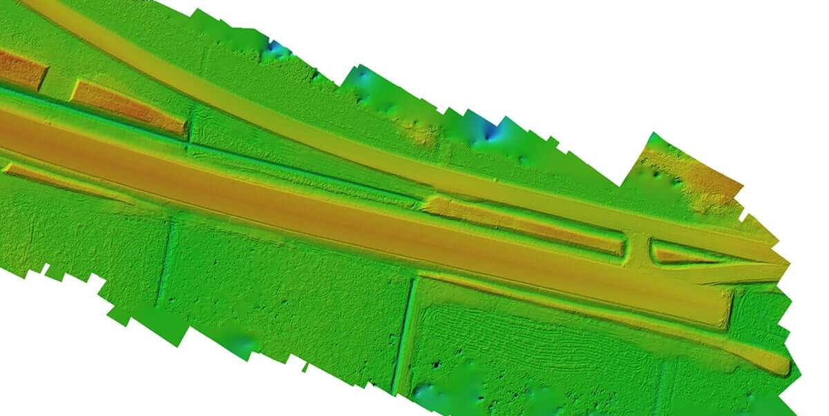 Road construction elevation model