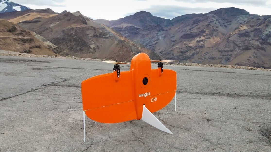 Smooth drone landing in Chile