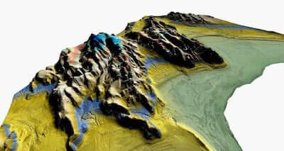 3d map of very large survey