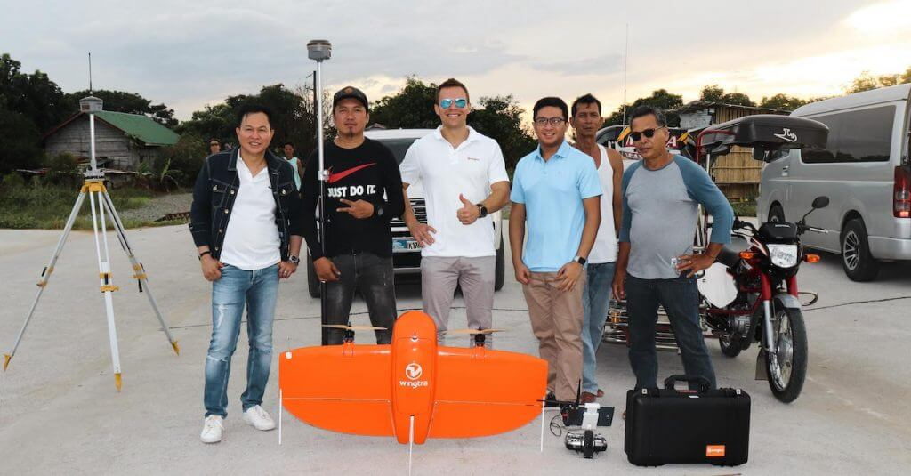 Surveytech Trading team with Wingtra