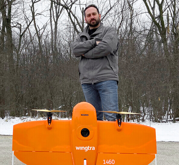 UAS operation manager with the surveying drone WingtraOne