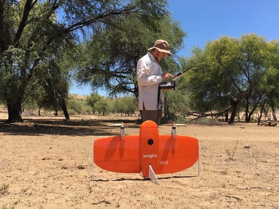 VTOL UAV in the desert