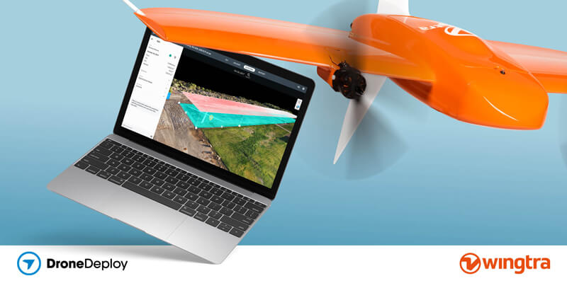wingtra drone and dronedeploy partnership announcement