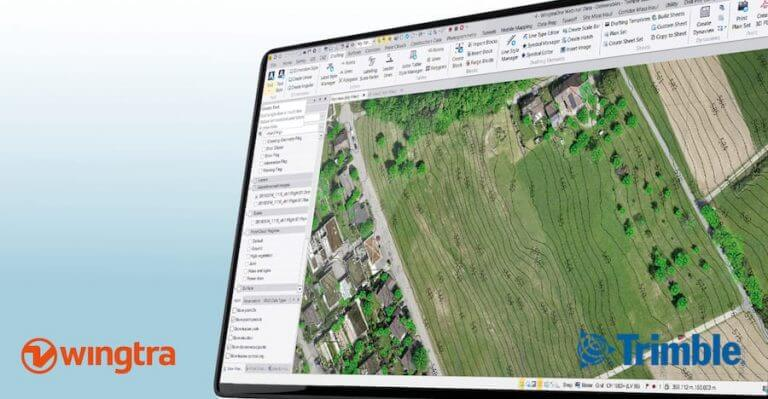 Trimble Business Center and Wingtra with drone data output