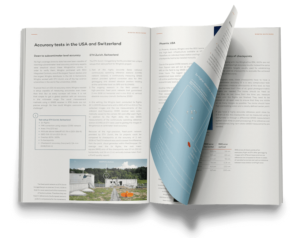 Wingtra White Paper on Absolute Accuracy