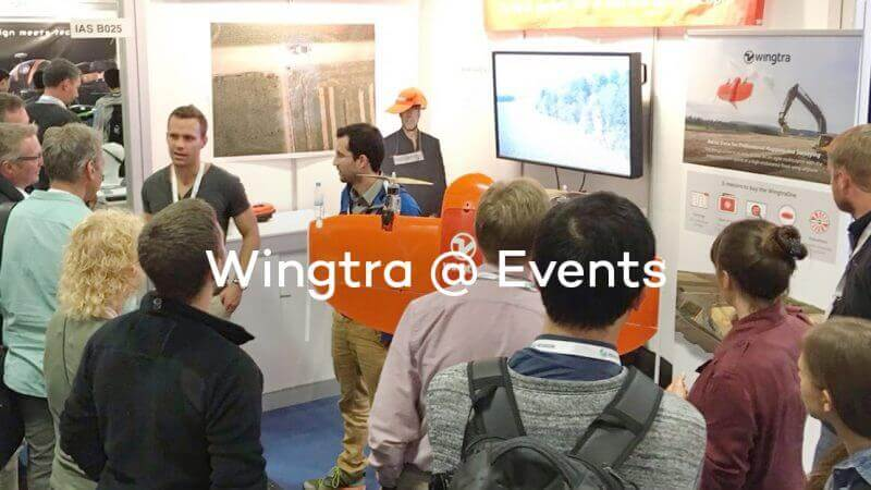 Wingtra employess at events