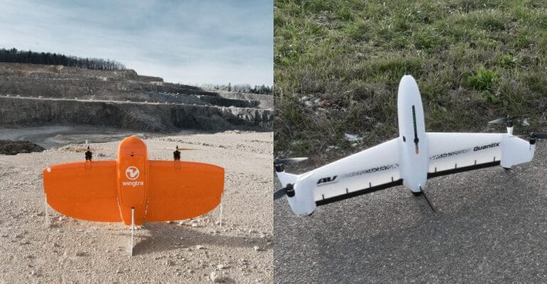 VTOL drones compared: WingtraOne and Quantix