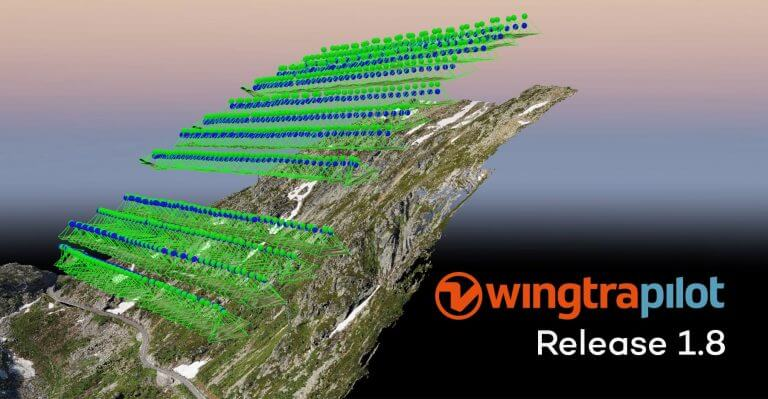 WingtraPilot drone flight planning mission update